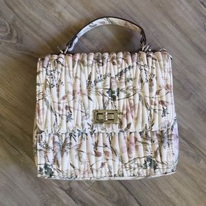 Max Studio Quilted Faux Leather Floral Bag